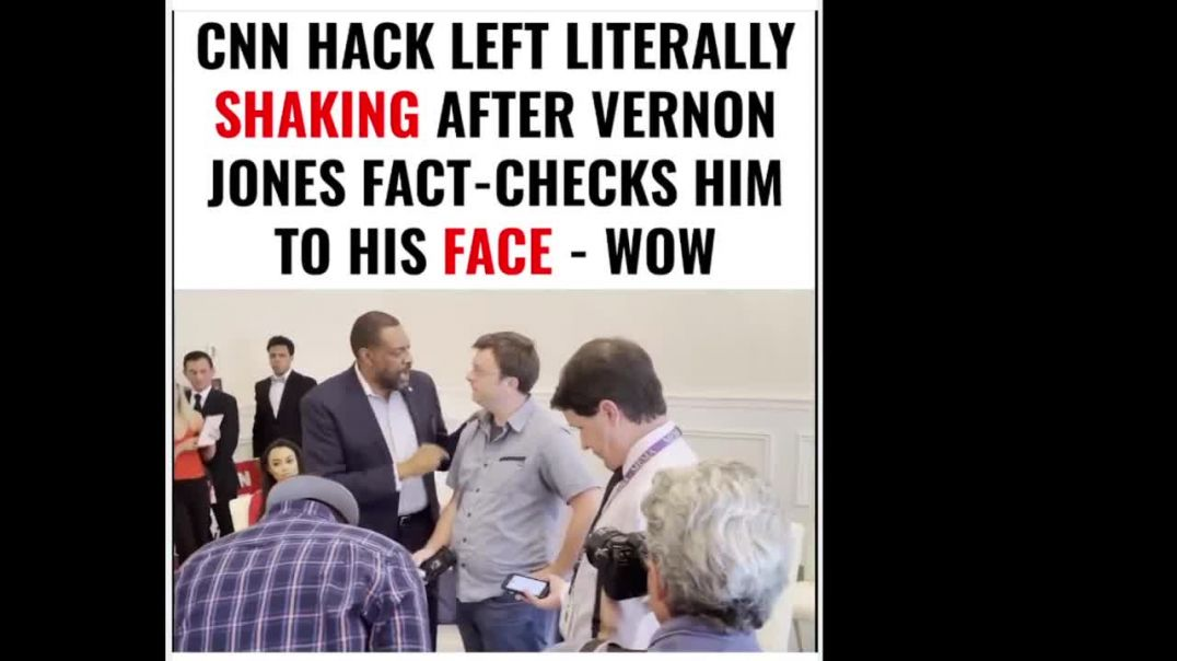 CNN Hack Left Literally Shaking After Vernon Jones Fact-checks Him to His Face - WOW